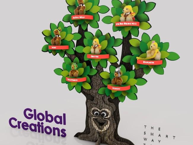 Presentatie display voor beren speelgoed
