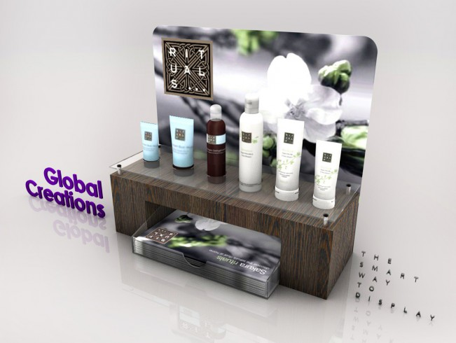 Cosmetic and perfume display stands