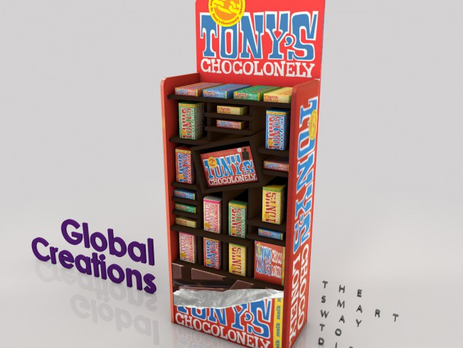 Custom sweet stands and displays in all shapes and sizes
